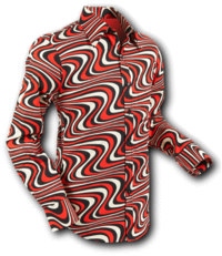 Wavyline black-red-creme