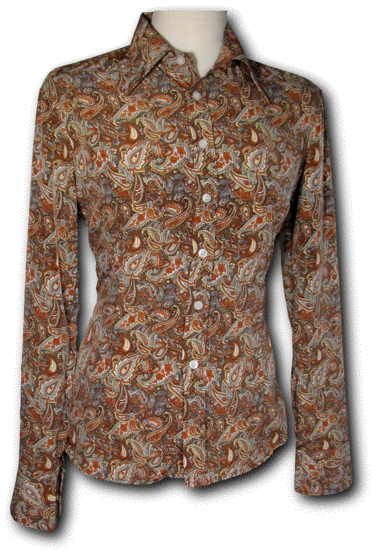 Blouse Paisley brown