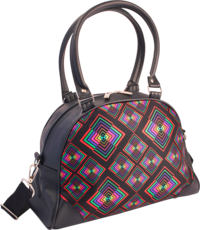 Hand-Bag Rhombus black-colourful
